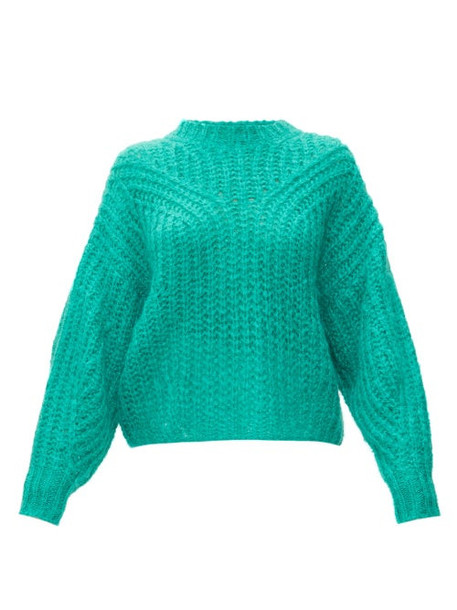 Isabel Marant - Inko Pointelle Mohair Blend Sweater - Womens - Green