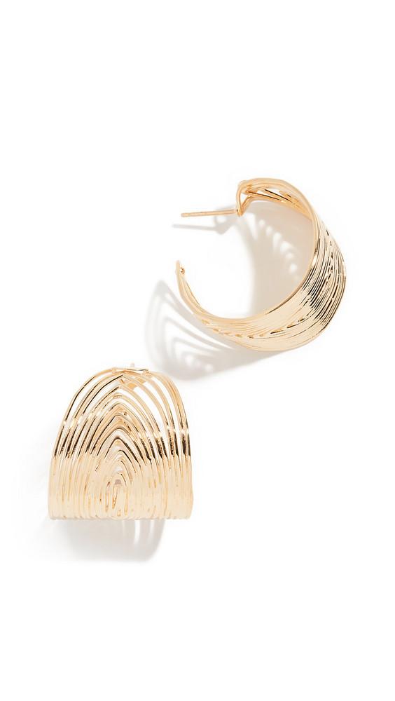 GAS Bijoux Creole Wave Hoop Earrings in gold