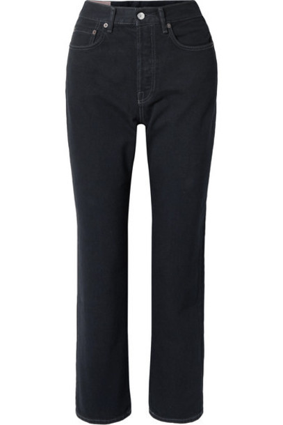 Acne Studios - Mece Cropped High-rise Straight-leg Jeans - Black
