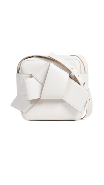 Acne Studios Musubi Camera Bag in white / beige