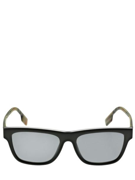 BURBERRY Ble Logo Squared Polarized Sunglasses in black / multi