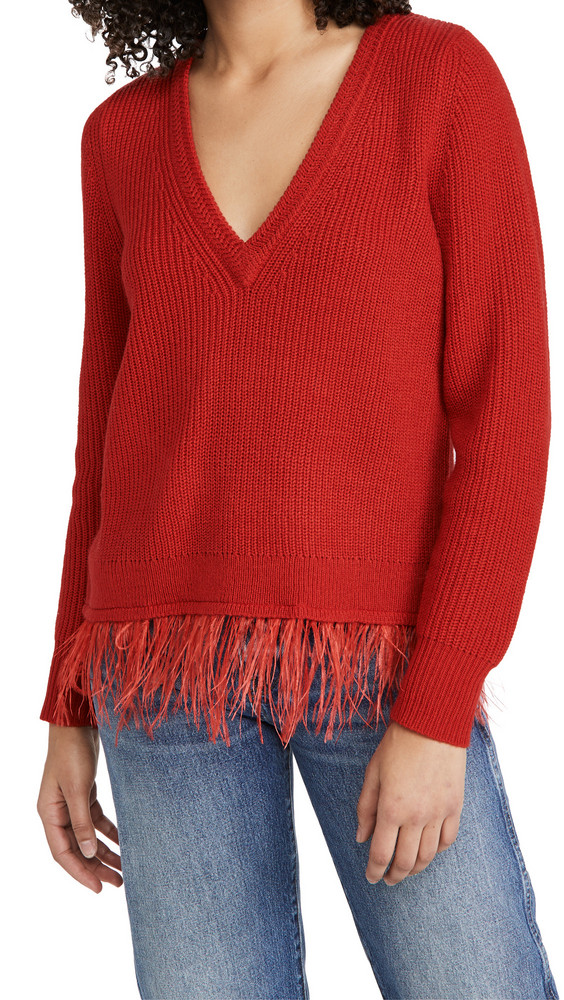 Saylor Juneau Sweater in red