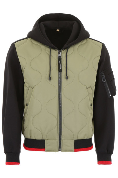 Burberry Jacket With Quilted Inserts in black