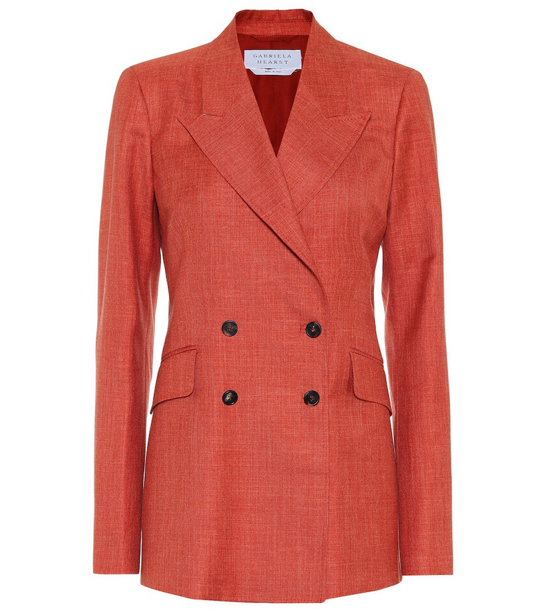 Gabriela Hearst Angela wool-blend blazer in orange