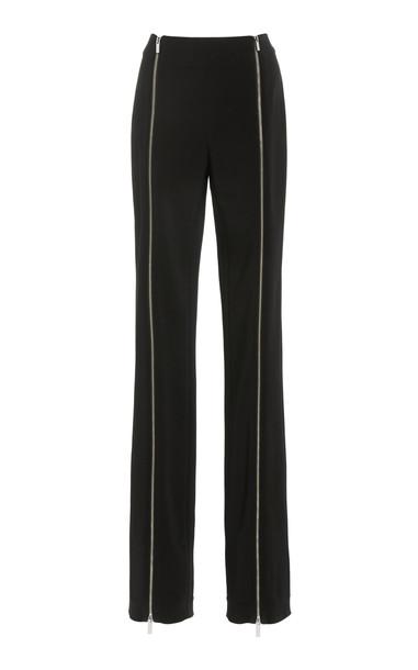 Rosetta Getty Zip-Detailed Crepe Skinny Pants in black