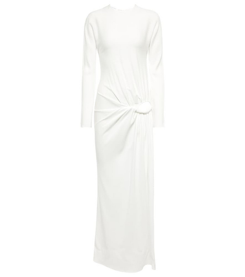CHRISTOPHER ESBER Long-sleeved ruched maxi dress in neutrals