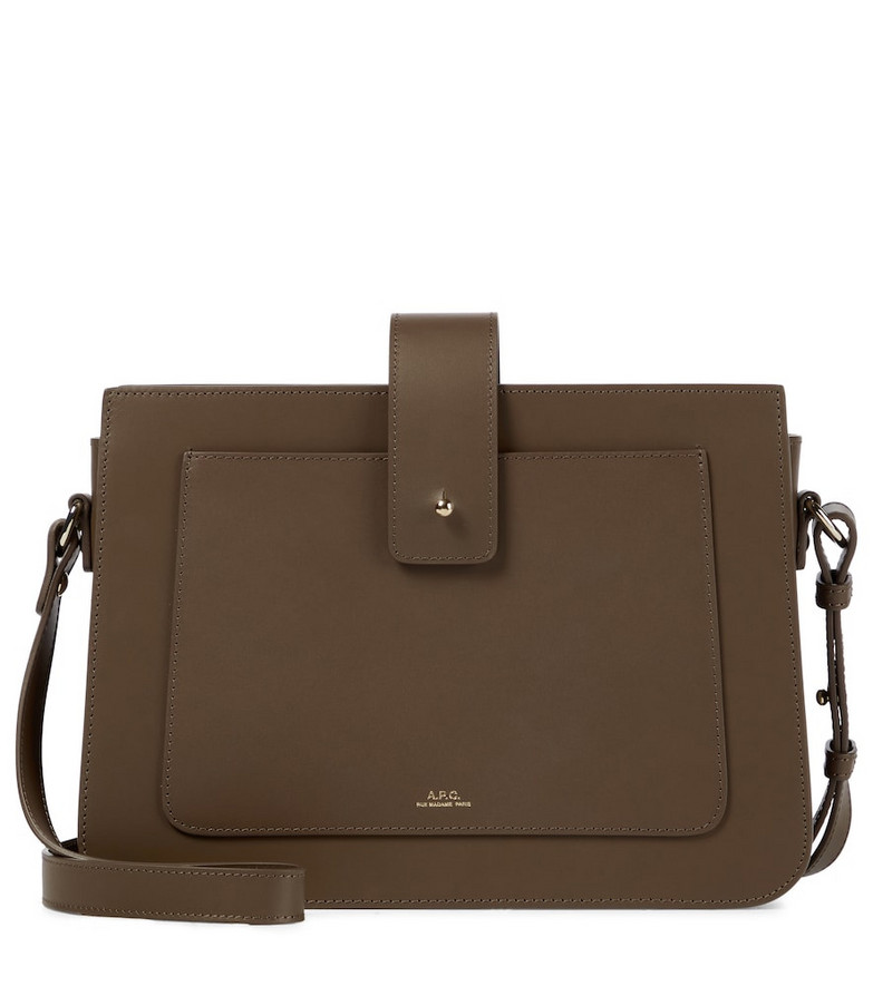 A.P.C. Albane leather shoulder bag in brown
