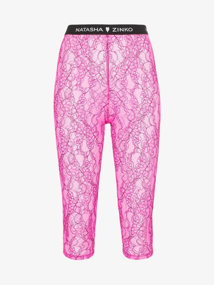 Natasha Zinko lace biker shorts in pink