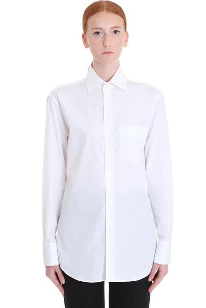 Maison Margiela Shirt In White Cotton