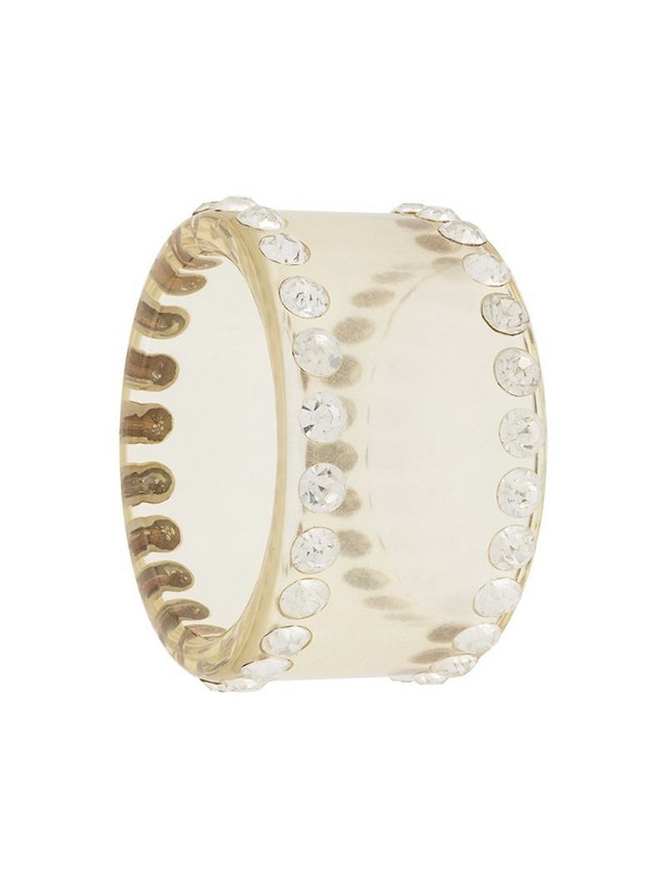 Valentino Pre-Owned 1980s crystal embellished bracelet in neutrals