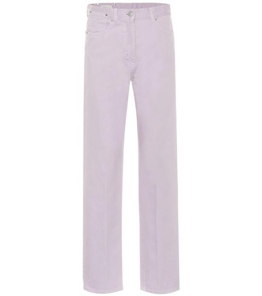 Dries Van Noten High-rise straight jeans in purple