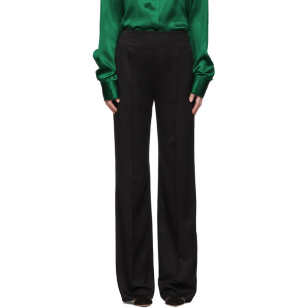 Haider Ackermann Black Straight-Leg Trousers
