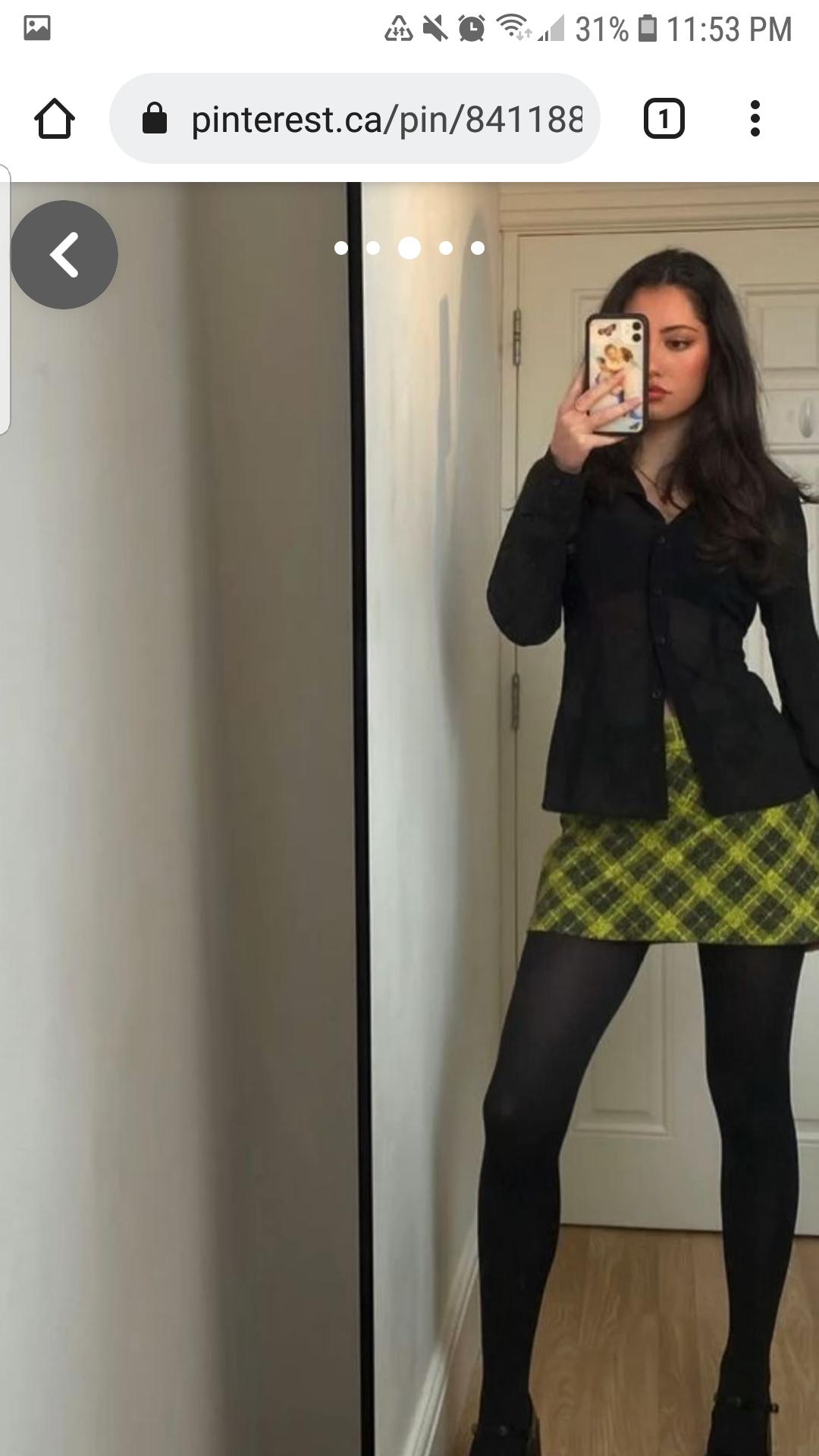 shorts vintage checkered tartan plaid skirt