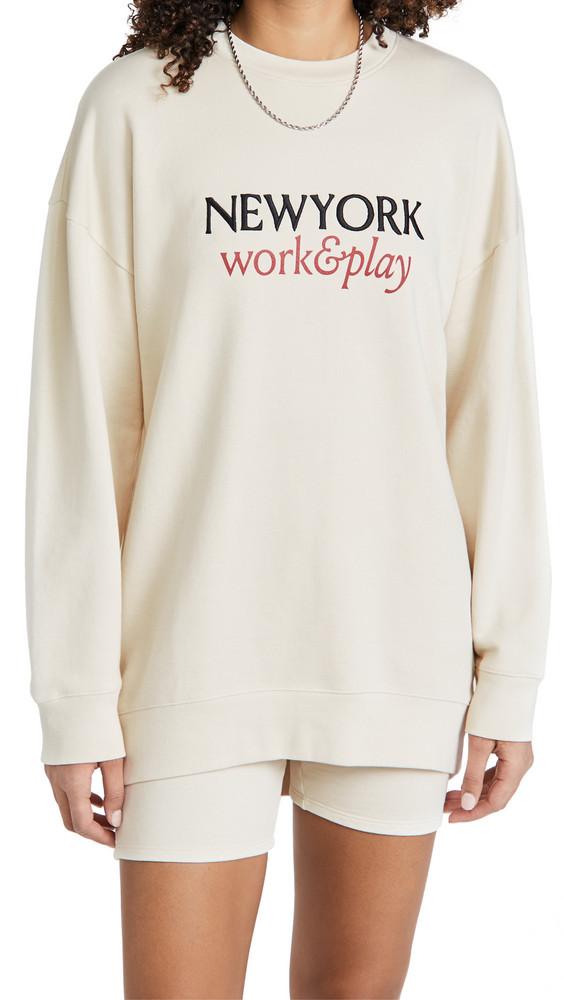 FRAME Work & Play Sweatshirt in white