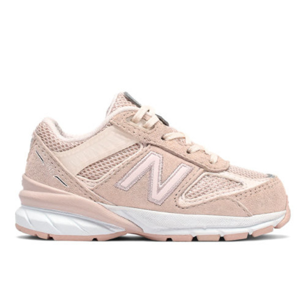 New Balance 990v5 Kids' Infant and Toddler Lifestyle Shoes - Pink (IC990PL5)