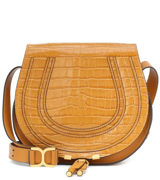 Chloé Exclusive to Mytheresa – Marcie Medium leather shoulder bag in brown