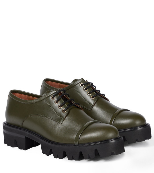 Malone Souliers Byrn leather Derby shoes in green