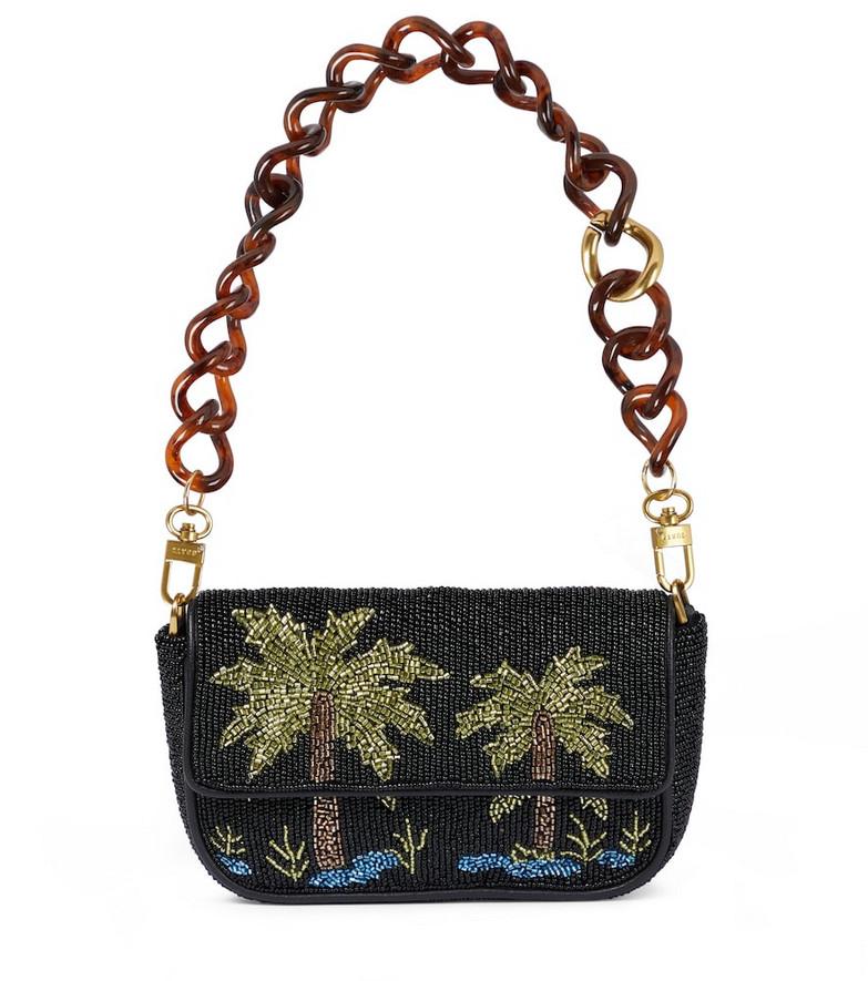 Staud Tommy Mini embellished shoulder bag in black
