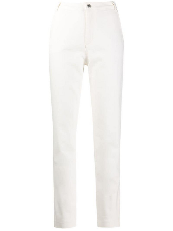 A.P.C. high-rise fitted trousers in white