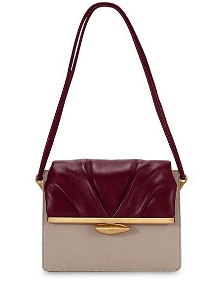 REIKE NEN Pebble Midle Bicolor Leather Bag in beige