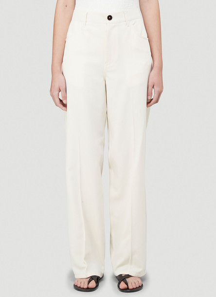 Jil Sander Murphy Wide-Leg Pants in White size DE - 36