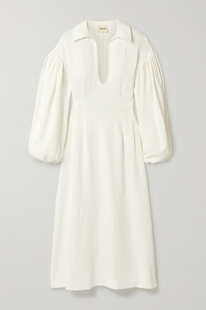 Khaite - Farrely Crepe Midi Dress - White