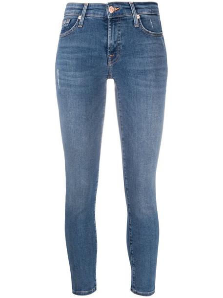 7 For All Mankind Pyper cropped skinny jeans in blue