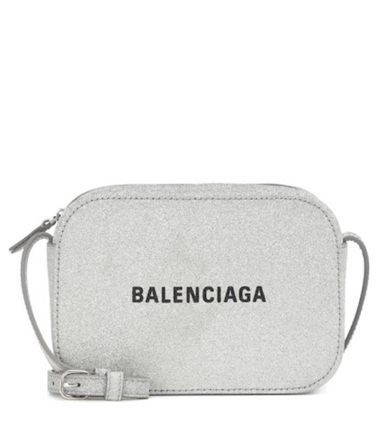 Balenciaga Everyday XS glitter shoulder bag in metallic