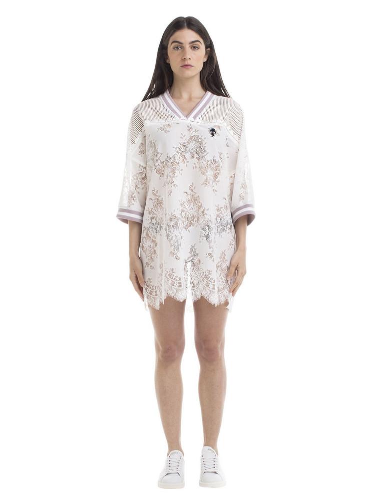 Marco de Vincenzo Marco De Vincenzo Oversized Lace T-shirt in white