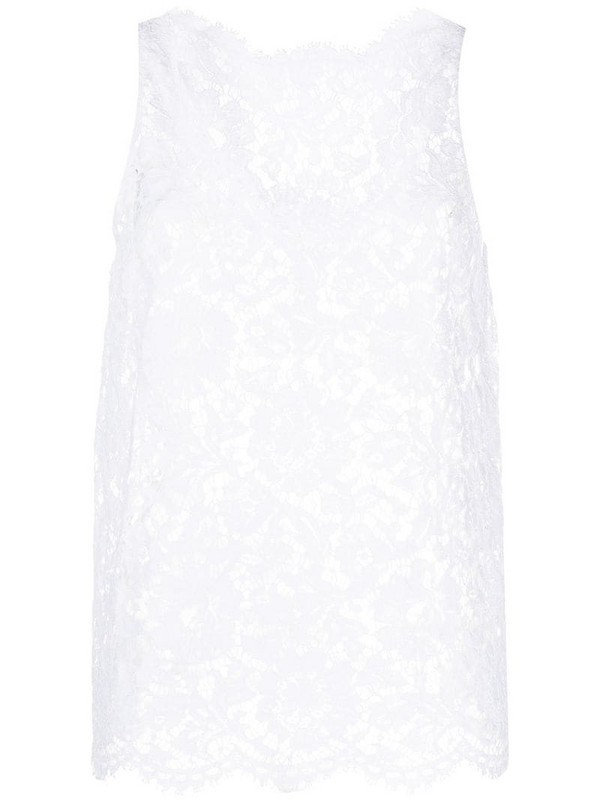 Valentino lace tank top in white
