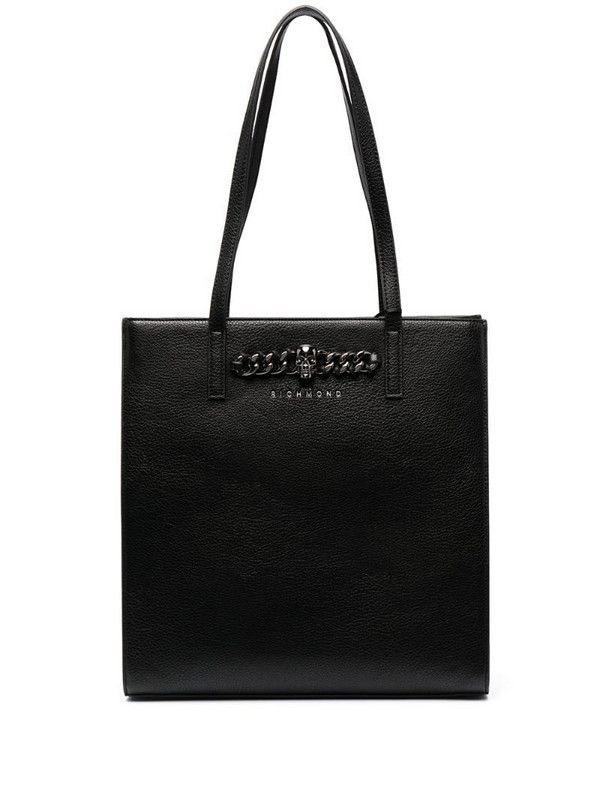 John Richmond Lowa leather shopping bag in black