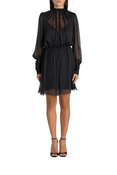 Federica Tosi Chiffon Short Dress in nero