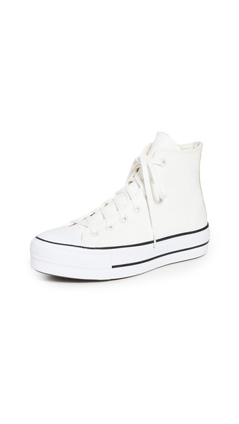 Converse Chuck Taylor Lift All Star High Top Sneakers in black / white