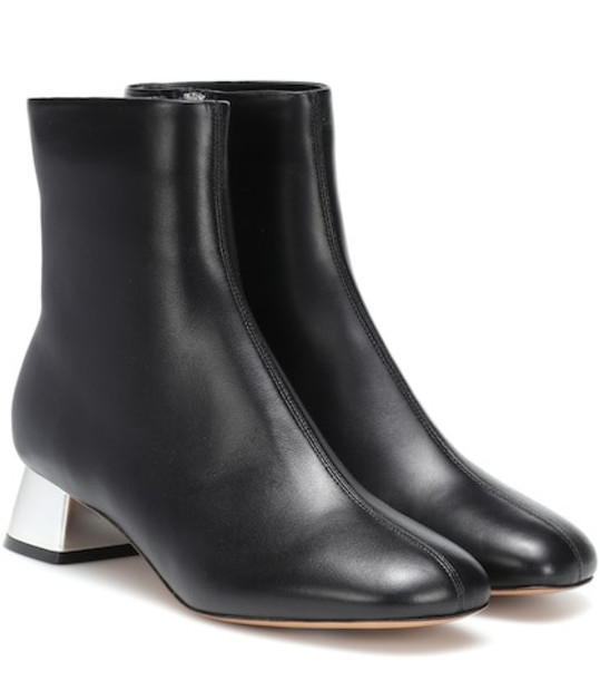 Marni Leather ankle boots in black