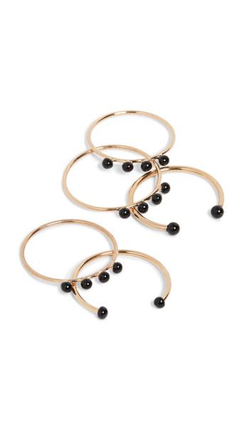 Isabel Marant Casablanca Stackable Ring Set in black