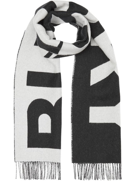 Burberry reversible logo scarf in black