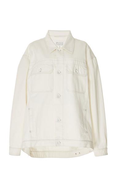 Maison Margiela Bleached Oversized Denim Jacket Size: L