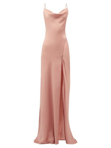 Jonathan Simkhai - Cowl Neck Charmeuse Slip Dress - Womens - Pink