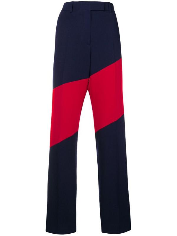 Calvin Klein 205W39nyc bicolour trousers in blue