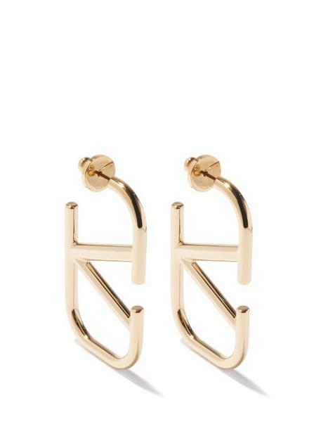 Valentino Garavani - V-logo Hoop Earrings - Womens - Gold
