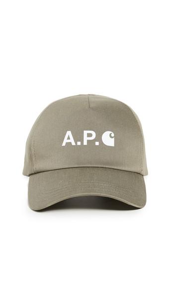 A.P.C. P.C.A.C. x Carhartt WIP Baseball Hat in khaki