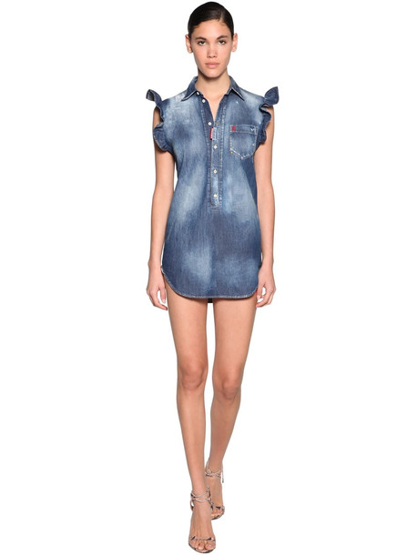 DSQUARED2 Cotton Denim Mini Dress