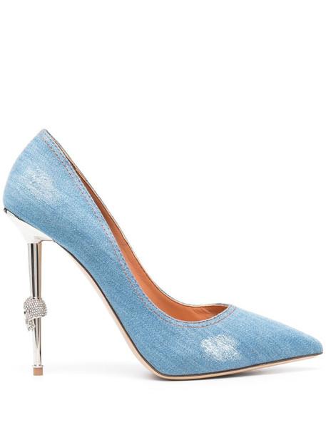 Philipp Plein Cecollete high-heeled pumps in blue
