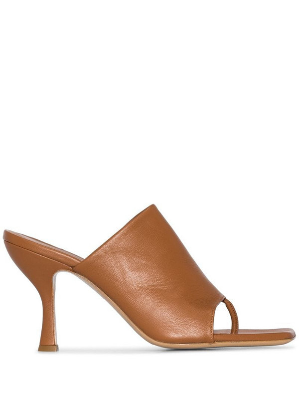 Gia Couture X Pernille Teisbaek mules in brown