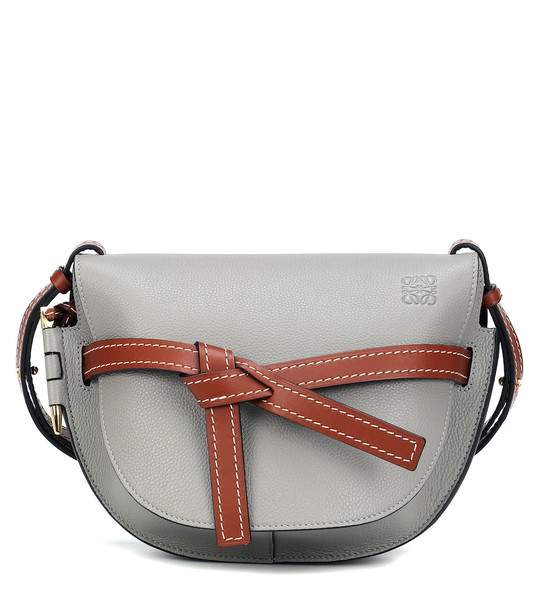 Loewe Gate Small leather crossbody bag in grey