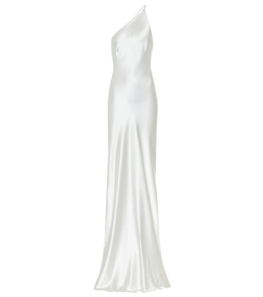 Galvan Portofino silk-satin bridal gown in white