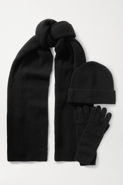 Johnstons of Elgin - Cashmere Beanie in black