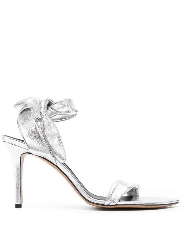 Isabel Marant tie-detail low-heel sandals in silver