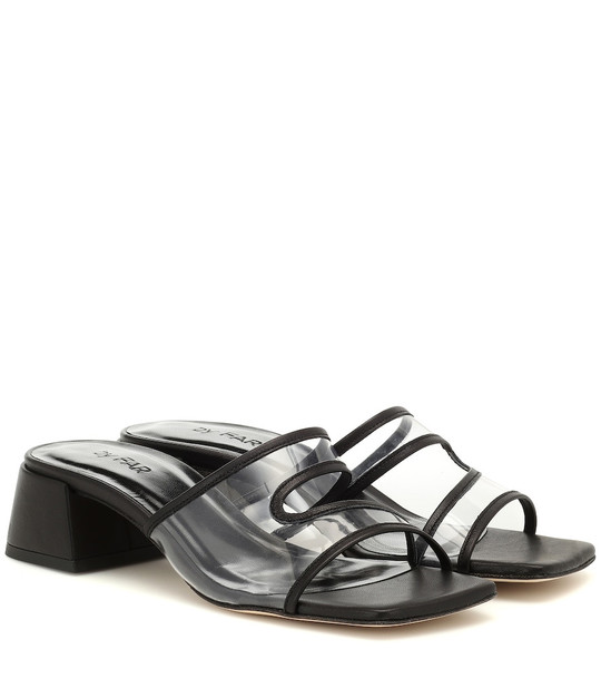 By Far Lola leather and PVC sandals in black
