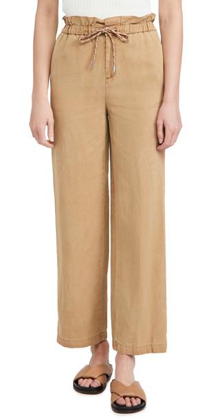 alice + olivia alice + olivia Henry Paperbag Pants with Tie in tan